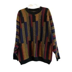 VINTAGE PROTEGE COLLECTION Striped Grandpa Sweater